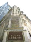 Entrance to the John J. Burns Library