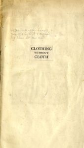 Offprint of Clothing without Cloth, created by Golden Cockerel Press