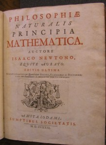 Philosophiae naturalis principia mathematica by Sir Isaac Newton (1723) Published in 1723 in Amsterdam