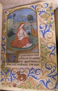 Connolly Book of Hours, John J. Burns Library, MS1986-097, Gift of Terence L. Connolly. This is an illuminated manuscript made in France in the fifteenth century.
