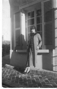 Photo postcard featuring Norah Lindsay, sent from Lindsay to Hilaire Belloc, from the Hilaire Belloc Papers, MS2005-02, John J. Burns Library, Boston College.