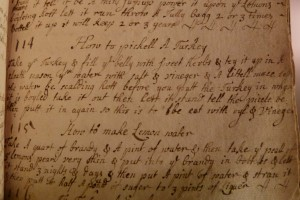Elizabeth Capell's hand-written recipes contain instructions for many a delicious dish as well as household remedies for ailments. This transcription and photograph were provided by Shelley Barber, Burns Library/Archives Assistant.