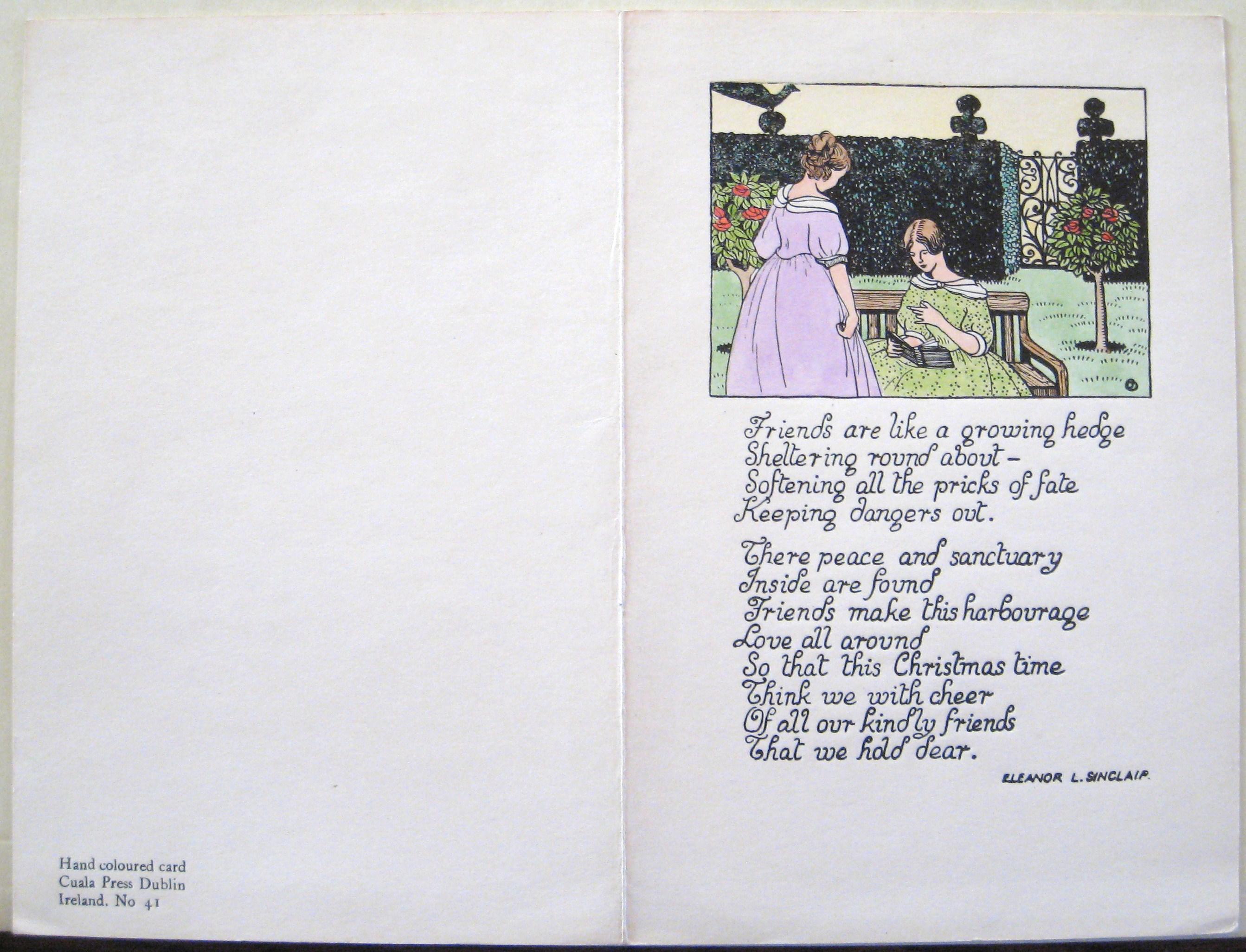 Reading Room Log: Holiday Greetings from the Cuala Press | John J ...