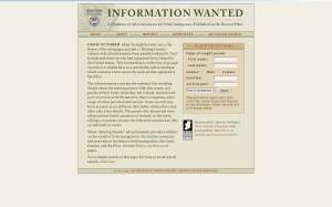 The Information Wanted Database is available at http://infowanted.bc.edu/.