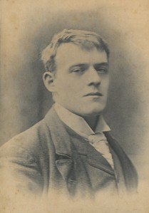 English writer Joseph Hilaire Peter Belloc was born in Celle Saint-Cloud, France in 1870. His mother was an English citizen, and the family moved to England after Belloc's father died. Belloc attended the Oratory School under John Henry Cardinal Newman from 1880-1887. After Belloc finished school, he returned to France to complete his compulsory military service. He attended Balliol College, Oxford. In 1896 he completed his degree with first class honors in history.  Photograph from the Hilary A. Belloc Collection, MS1998-004 Box 2,Folder 21, John J. Burns Library, Boston College.