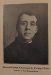 Rev. Thomas I. Gasson, SJ, President of Boston College 1907-1914. From the Stylus, Vol. XXVII, No. 1, p. 24, (October 1913).