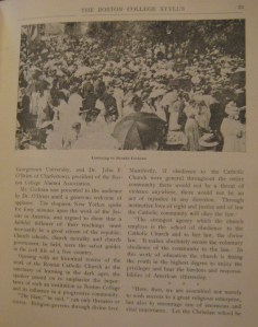 The Garden Party on University Heights. From the Stylus, Vol. XXI, No. 10, pg. 21 (July 1908).
