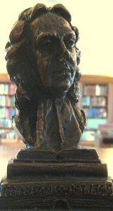 Bust of Jonathan Swift (1667 - 1745), this item is part of the William F. Cunningham, Jr. Collection of Jonathan Swift Materials, MS2005-49, John J. Burns Library.