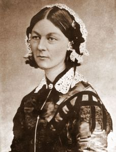 "Florence Nightingale, (12 May 1820 – 13 August 1910) was a celebrated English nurse, writer and statistician.  She came to prominence for her pioneering work in nursing during the Crimean War, where she tended to wounded soldiers. She was dubbed ""The Lady with the Lamp"" after her habit of making rounds at night."