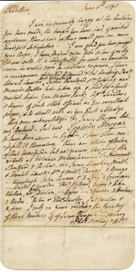First page of a letter written by Edward Stratford, Second Earl of Alborough, MS2001-41, John J. Burns Library, Boston College.