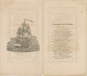 "Poem entitled ""The Political Trip of Sam Know-Nothing,"" 1856, Box 1, Folder 7, Anti-Catholic Documents Collection, MS2006-059, John J. Burns Library, Boston College."