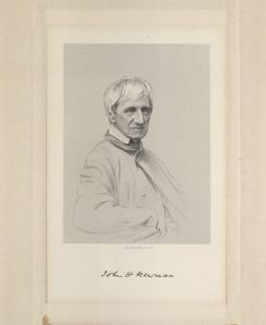 Engraving of John Henry Cardinal Newman, John Henry Cardinal Newman Papers, Box 2, Folder 6, MS1986-39, John J. Burns Library, Boston College.