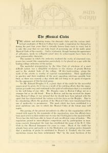 """Musical Clubs"" section, page 313, 1927 Sub Turri."