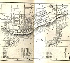 Map of the city of Halifax, between pages 92 and 93, Osgood's Maritime Provinces, 1875.