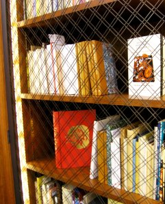 Here you can see some Dolmen Press books on display in the O'Brien Fine Print Room at the Burns Library.