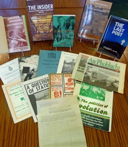 A sample of publications among the Burns Library Irish collection that relate to the reprieve petition featured in the Cataloger's Corner post by Meaghan Madden from October 17, 2011.