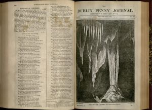 """Stalactite Cave at Mitchelstown"", Dublin Penny Journal, December 27, 1834, v. 3, no. 130."