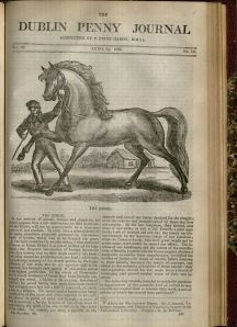 """The Horse"" from the Dublin Penny Journal, April 2, 1835, v. 3, no. 147."