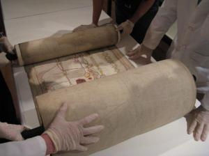 Unrolling the Roll Chronicle, a 33 foot-long vellum scroll from the mid 15th century with additions dated 1665.