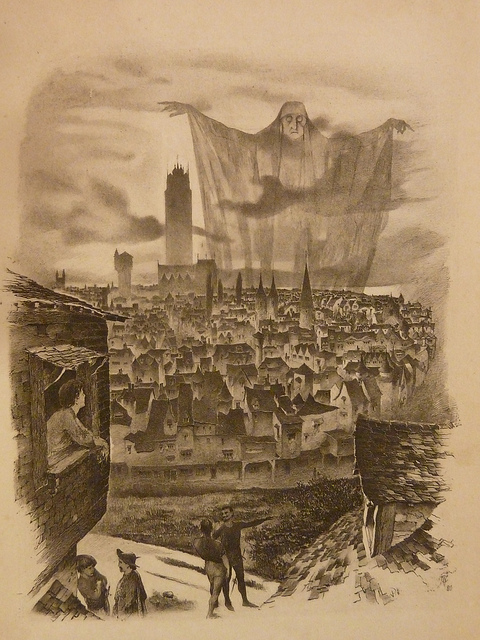 Stoker, Bram. Under the Sunset. London: Sampson Low, Marston, Searle, and Rivington, 1882. Illustration opposite page 50, by W.V. Cockburn.