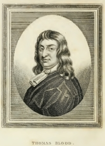 Thomas Blood (1618 – 1680) was an Irish colonel best known for attempting to steal the Crown Jewels of England from the Tower of London in 1671.