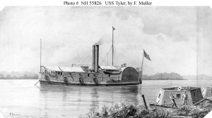 USS Tyler. Drawing by F. Muller, c. 1900. (Courtesy US Navy Art Collection, Washington, D.C.)