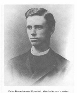 Image of Rev. Timothy Brosnahan from Father Donovan's pamphlet titled Rev. Timothy Brosnahan, S.J: Boston College President, 1894-1898, National Spokesman for Jesuit Liberal Education.