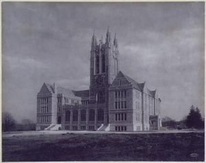 Gasson Hall on Boston College's early Chestnut Hill campus, photograph by Clifton Church.
