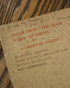 Songs from The four winds of Eirinn, Dublin.