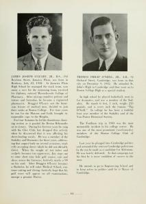 "In the right-hand column is Thomas ""Tip"" P. O'Neill's yearbook photo from the <a href = ""https://archive.org/details/subturriundertow1936bost"">1936 Sub Turri</a>."