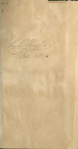 Thaxter autograph in Burns Library copy of Political Economy of Art, 1858.