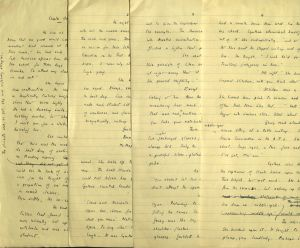 Manuscript pages of Frankau's novel Shaken in the Wind, Pamela Frankau Papers, MS1995-06, Box 2, John J. Burns Library, Boston College.