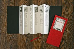 """The book Six Years from """"Precious Poems in Precious Packaging""""—printed and bound by the Traffic Street Press."""