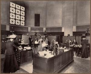 Public card catalogue rm. Centr.,  Boston Public Library, Copley Square. Bates Hall catalogue.