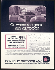 A Donnelly Advertising pamphlet from the 1970s targeting the working women demographic. John Donnelly & Sons records, MS.2012.004, Box 2, Folder 7, John J. Burns Library, Boston College.