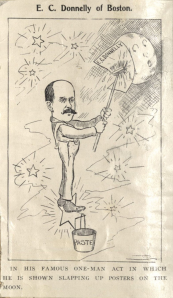 A caricature of Edward C. Donnelly Sr., circa 1900. John Donnelly & Sons records, MS.2012.004, Box 8, Volume 1, John J. Burns Library, Boston College.