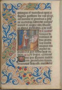 St. Nicholas, folio 154 verso, Connolly Book of Hours, MS1986-097, John J. Burns Library, Boston College.