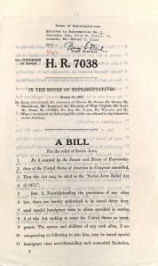 """""""A Bill for the Relief of Soviet Jews,"""" March 31, 1971, Box 183, Folder 52, Thomas P. O'Neill, Jr. Congressional Papers, CA2009-01, John J. Burns Library, Boston College."""