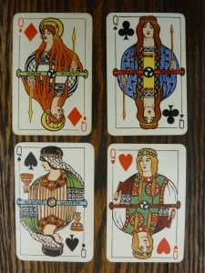 Heroic Age Design Playing Card, Box 2, Eva McKee Collection (MS.2005.06), John J. Burns Library, Boston College.