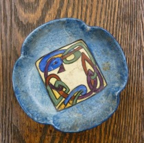 Ceramic Dish with Painted Celtic Design, Box 3, Eva McKee Collection (MS.2005.06), John J. Burns Library, Boston College.