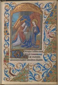 Folio 26 recto, Connolly Book of Hours, MS.1986.097, John J. Burns Library, Boston College.