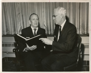 Philip McNiff (right), 1968. Photograph Collection, University Archives, John J. Burns Library, Boston College.