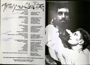J. Robert Barth, SJ, used this playbill for a 1986 Theatr Clwyd production in Wales to critique the performance of the cast members.