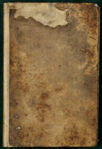 Front cover of the Elizabeth Capell Cooking Notebook, MS.2002.012, John J. Burns Library, Boston College.