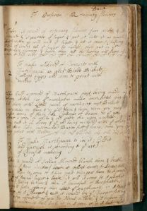 Various recipes using marzipan, Elizabeth Capell Cooking Notebook, MS.2000.12, John J. Burns Library, Boston College.
