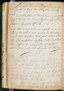 "The Capell Cooking notebook contains recipes, or ""receipts,"" for food, folk remedies, and other household tips and tricks, Elizabeth Capell Cooking Notebook, MS.2000.12, John J. Burns Library, Boston College."