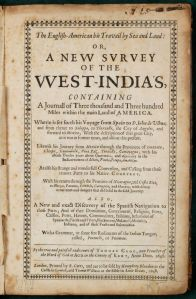 "The title page of Gage's ""A New Survey of the West-Indias"""