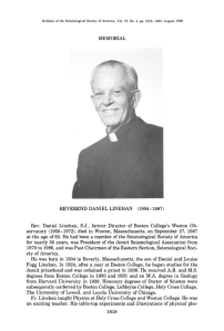 Reverend Daniel Linehan, 1904 - 1987, from the Bulletin of the Seismological Society of America, v. 78, no. 4, August 1988.