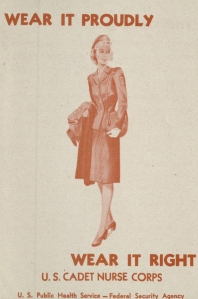 A Cadet Nurse Corps advertisement, Box 17, Folder 1, New England Deaconess Hospital School of Nursing Records, MS.1989.008, John J. Burns Library, Boston College.