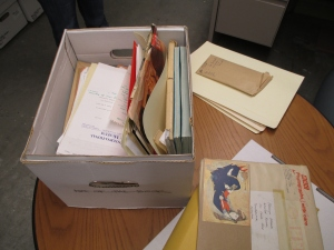 An example of a box from an unprocessed collection.